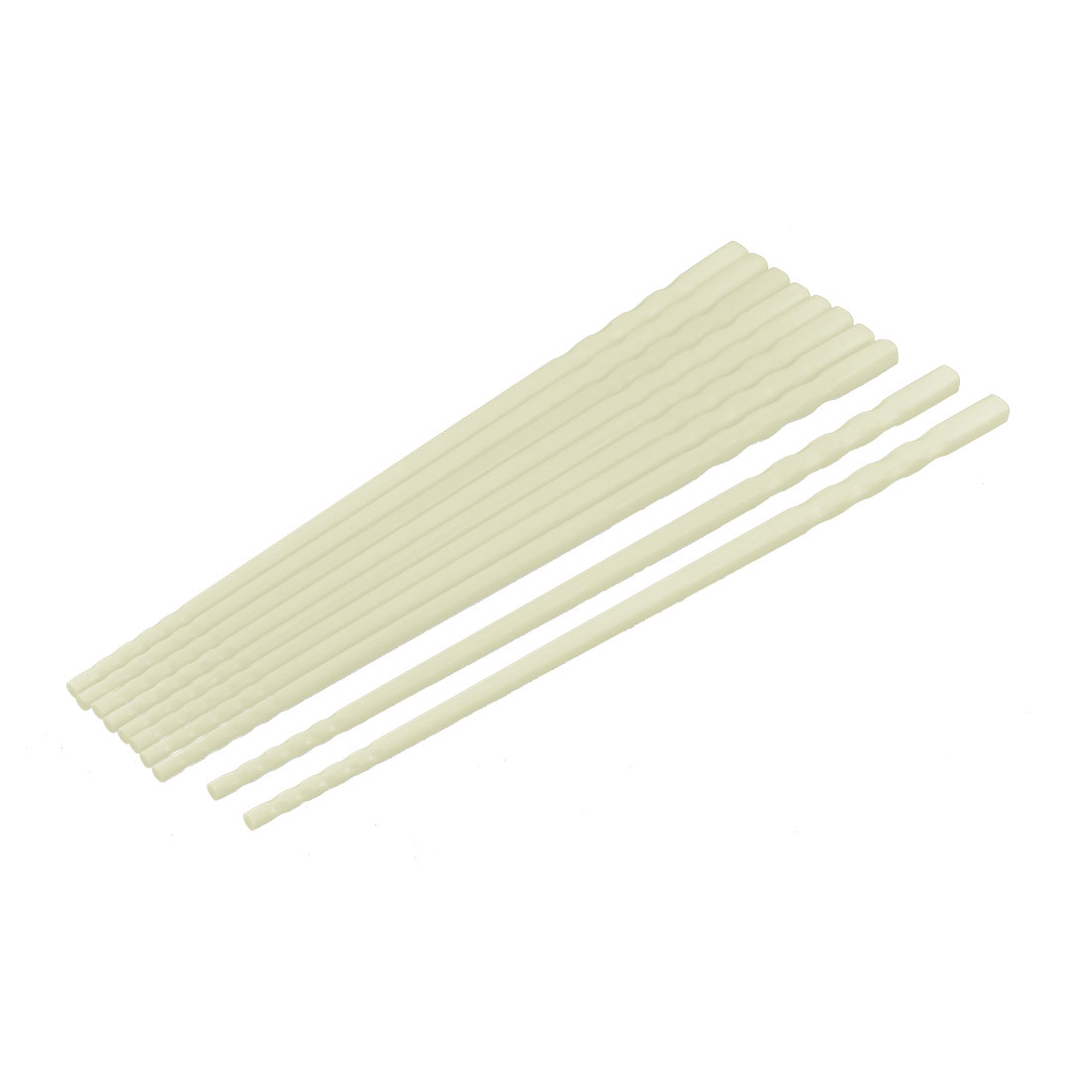 Home Restaurant Kitchenware Tableware Plastic Chopsticks Beige 22cm Length 5 Pairs