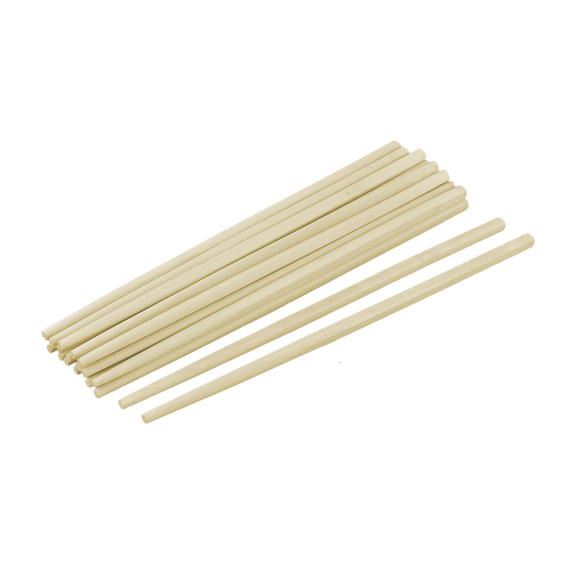 Kitchenware Tableware Bamboo Chinese Style Dinner Service Chopsticks Beige 10 Pairs