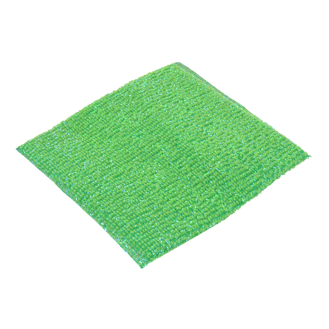 Kitchenware Tableware Bowl Plate Duster Cleaning Dish Rectangle Scrub Sponge Cloth Green