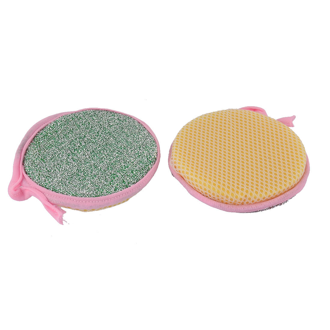 Kitchenware Tableware Round Bowl Plate Duster Cleaning Cloth Scrub Sponge 2pcs
