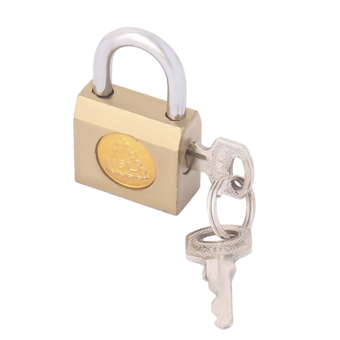 Home Office Door Drawer Luggage Metal Security Lock Shackle Padlock Brass Tone