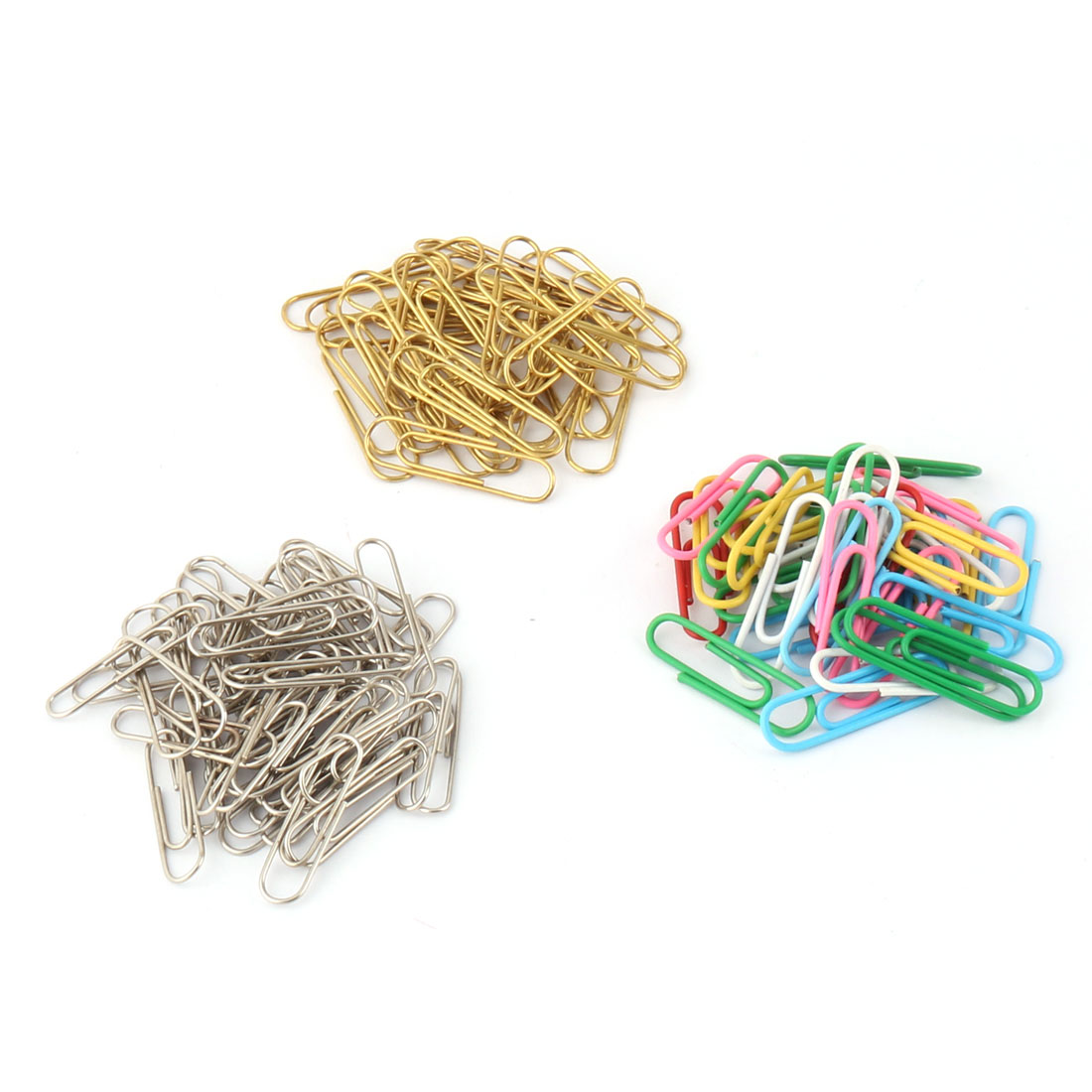 Home Office School Stationery Docunments Note Paper Clip Organizer Holder Muticolor 120pcs in One