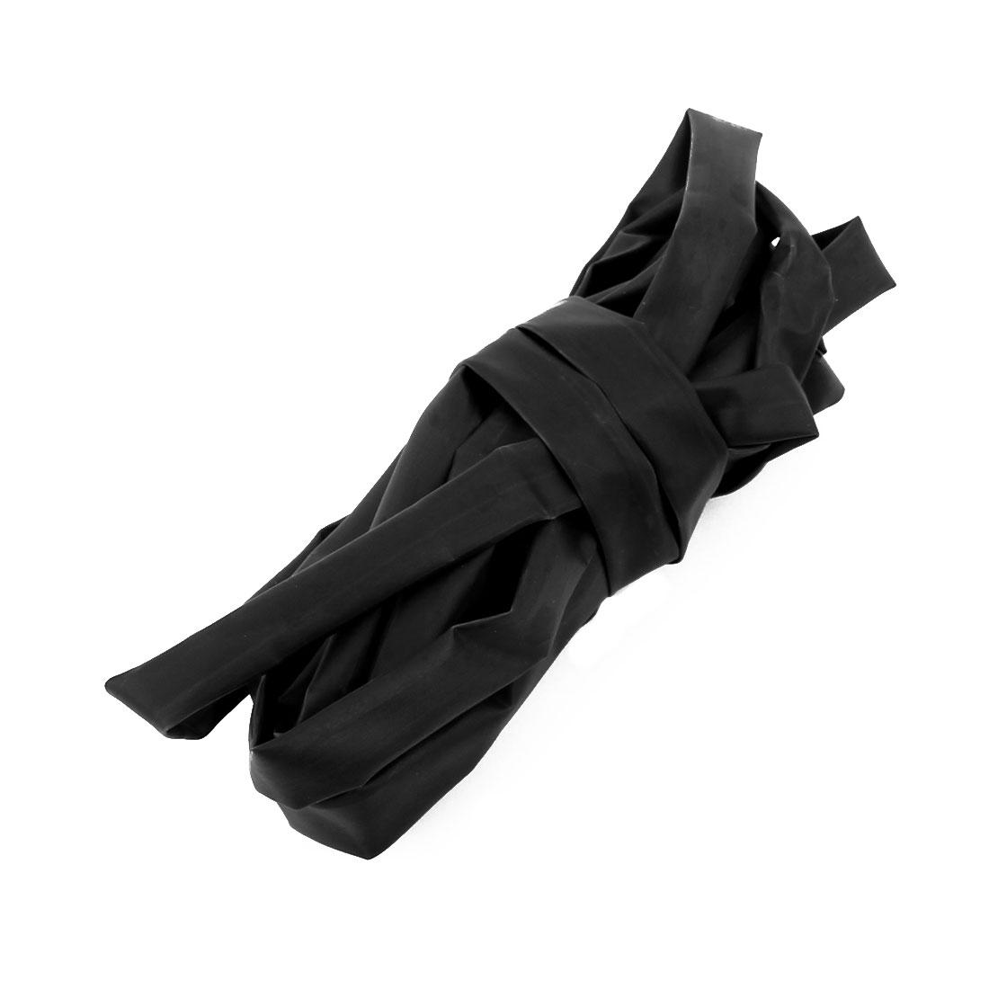 Polyolefin 6mm Dia 2:1 Heat Shrink Tubing Shrinkable Tube Black 2.Long