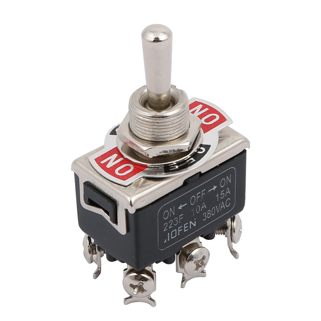AC 380V 10A/15A On/Off/On 3 Position DPDT Toggle Switch w 6 Screw Terminals