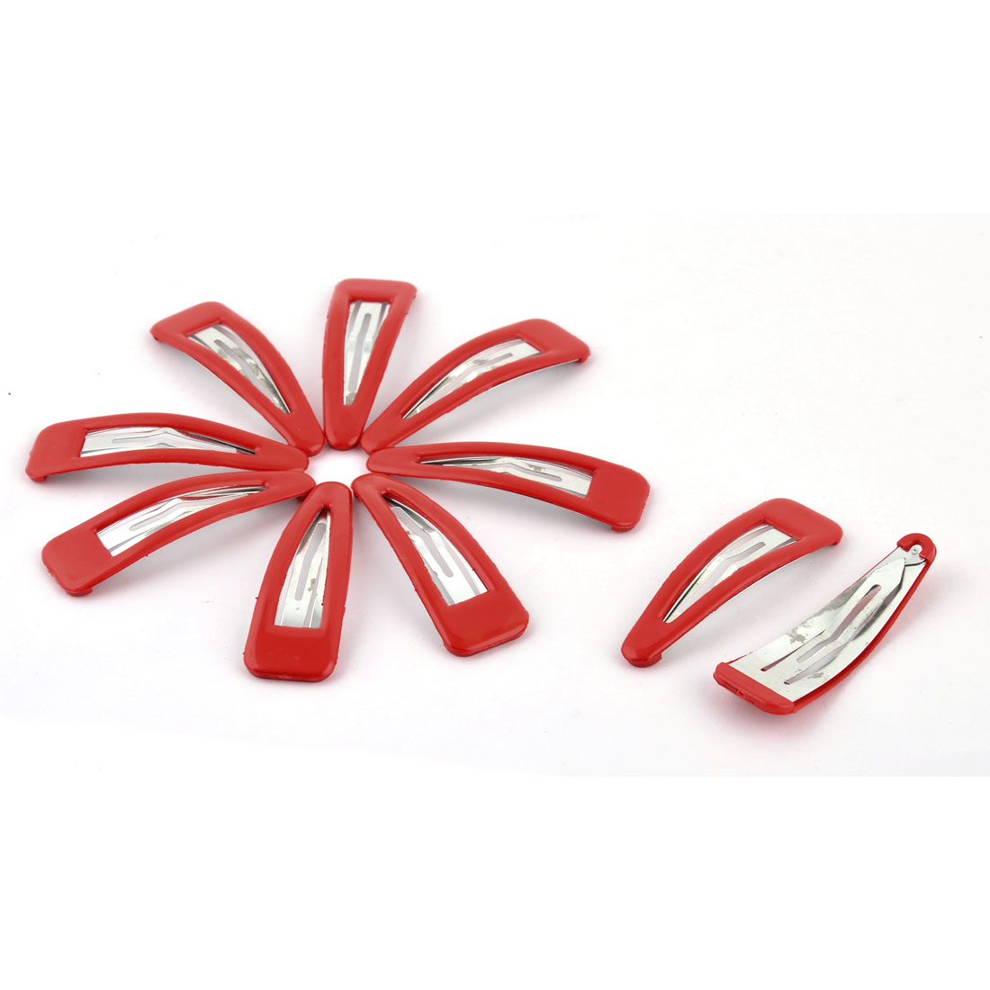 Home Lady Accessories Metal Decorative Charming Bendy Hair Snap Clip Hairpin