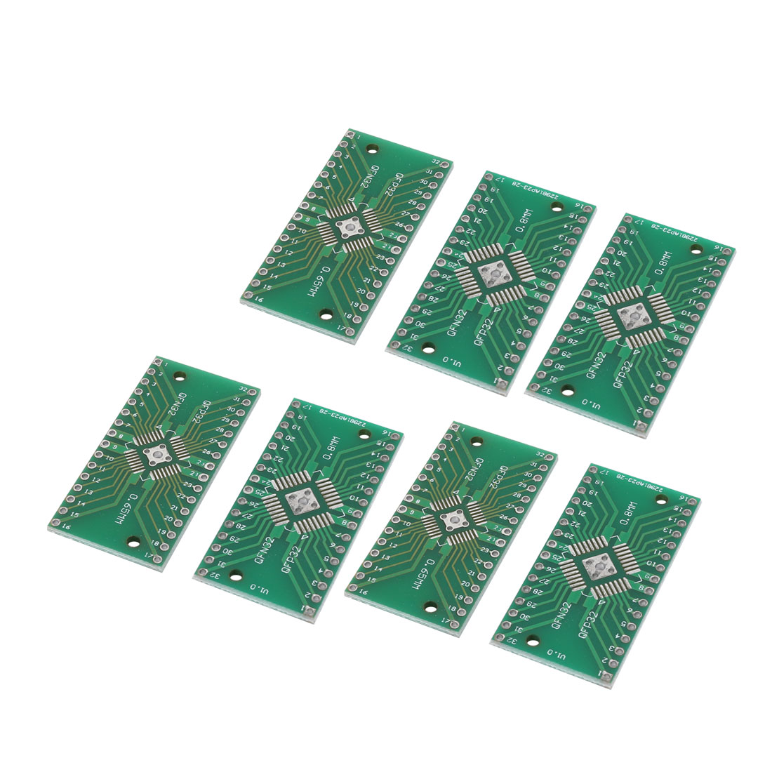 7 Pcs 0.8mm/0.65mm Pitch Prototyping Double Side PCB Board Stripboard 40mmx20mm