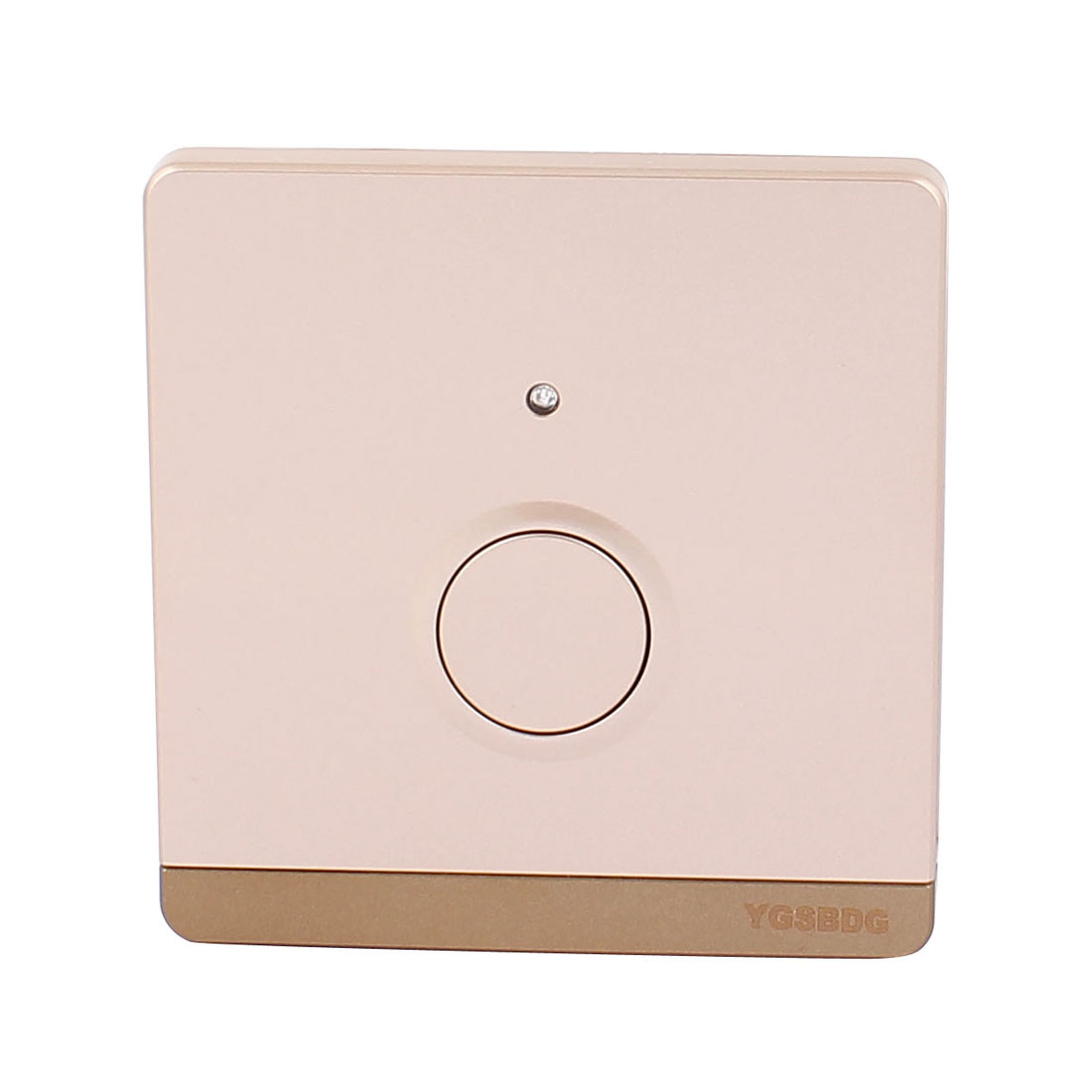 AC 220V 50/60Hz 86 Type Noctilucent Indicator Lamp Touch Control Delay Wall Switch Champagne Gold