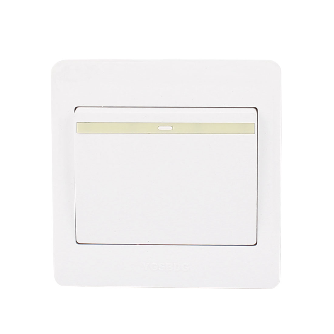 AC 250V 10A 1 Gang 1 Way On/Off 86Type Plastic Housing Wall Light Switch