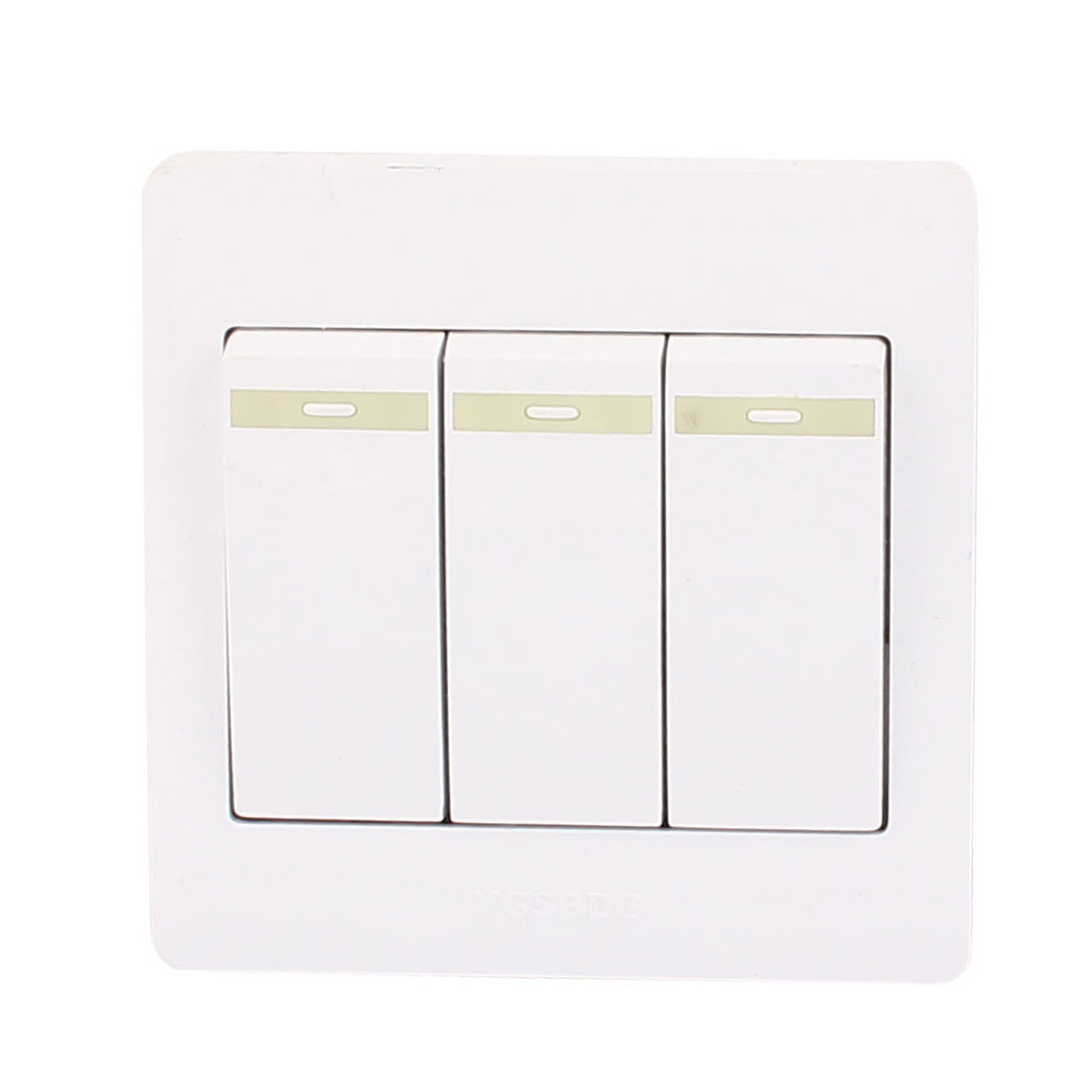 AC 250V 10A 3 Gang 1 Way On/Off 86Type Plastic Housing Wall Light Switch