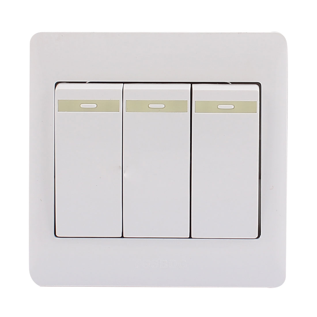 AC 250V 10A 3 Gang 2 Way On/Off 86Type Plastic Housing Wall Light Switch