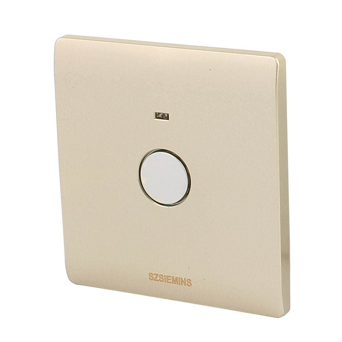 AC 160V-250V Noctilucent Indicator Light Touch Sensor Automatic OFF Switch Gold For Corridor