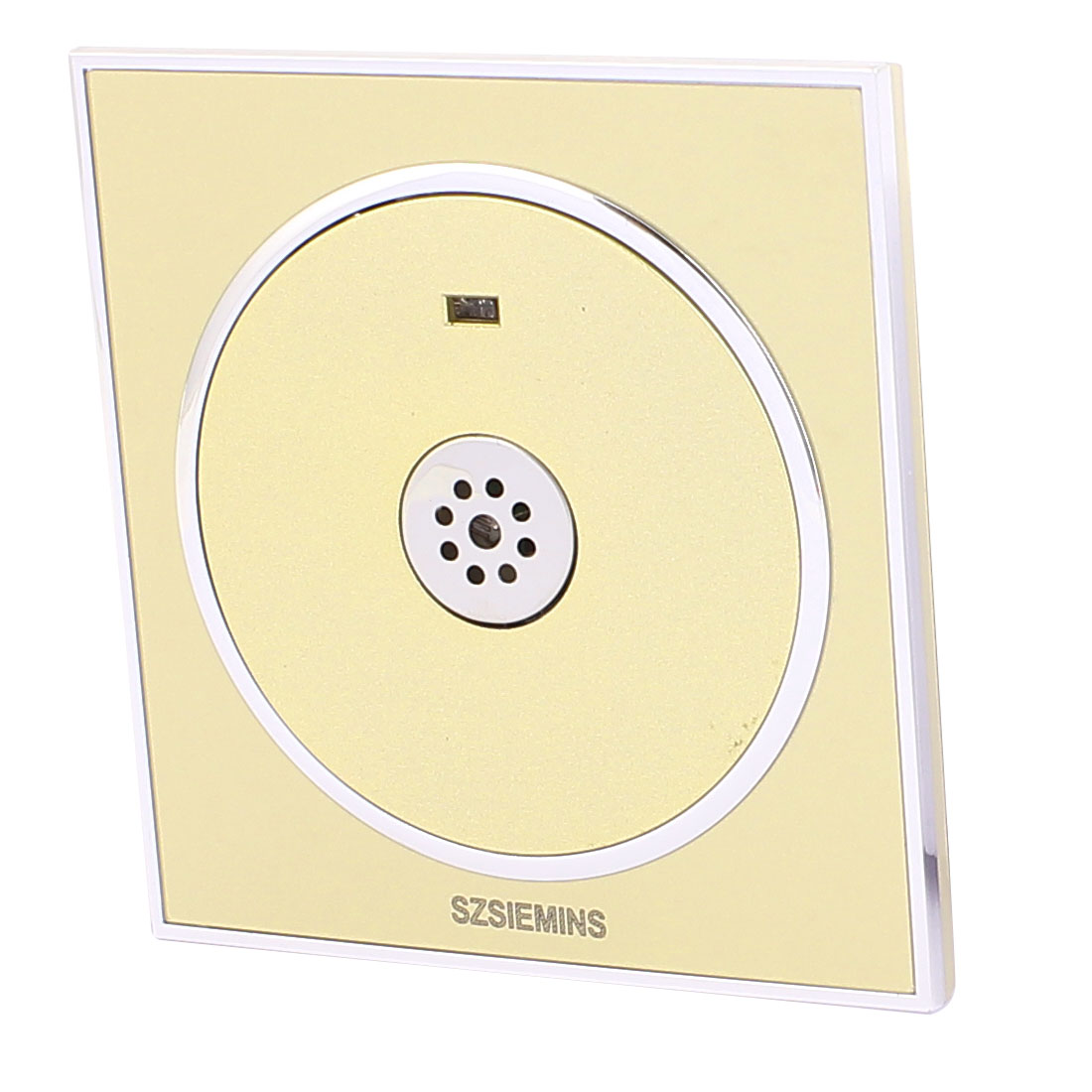 AC 160V-250V 3-100W Noctilucent Mirrored PMMA Surface Gold Tone Wall Mounted Sound Control Sensor Time Delay Switch