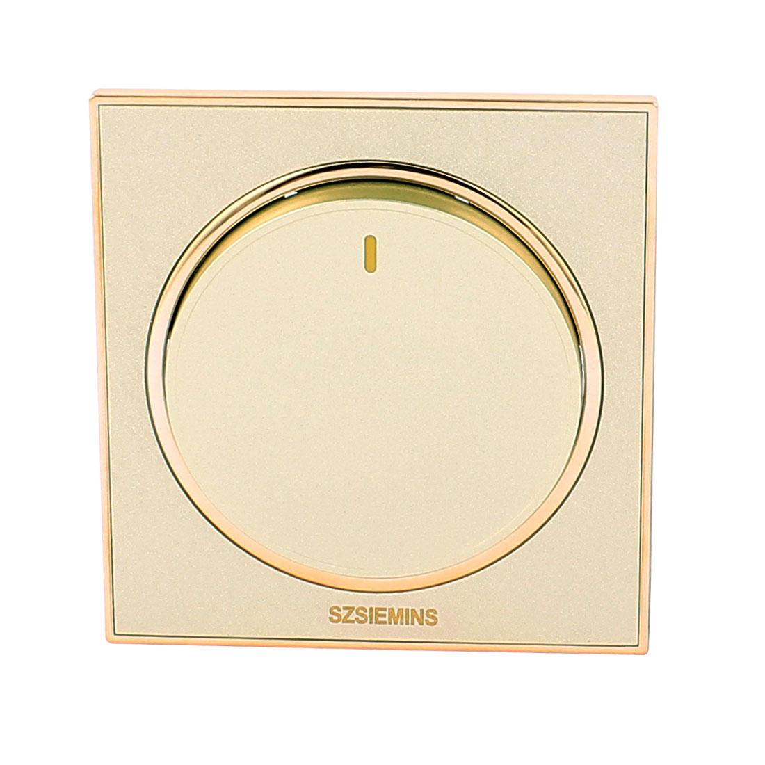 AC 250V 10A 1 Gang 2 Way On/Off Matting Brushed Finish Round Button Wall Light Switch