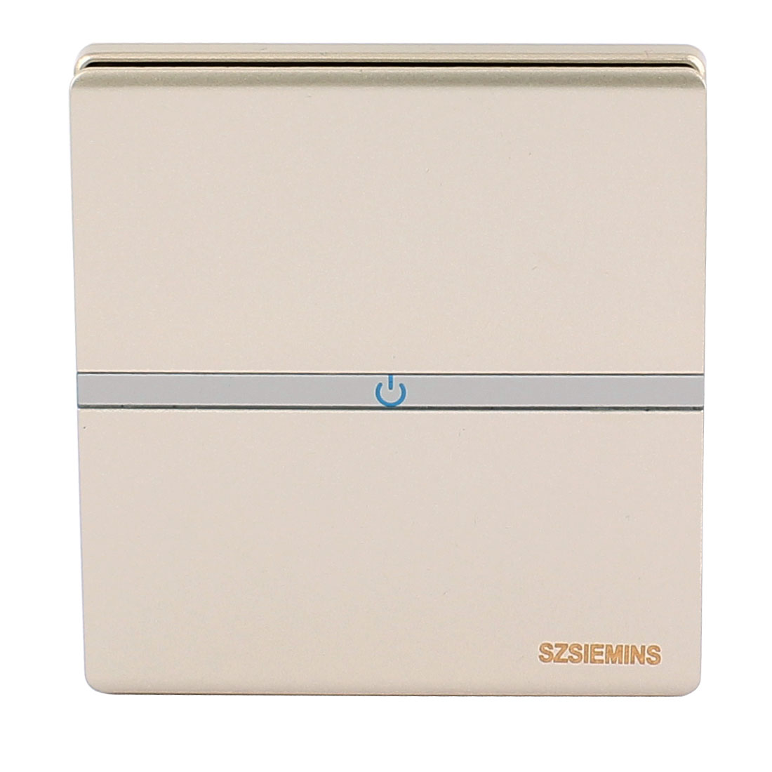 AC 250V 16A 1 Gang 1 Way On/Off Frameless Large Press Button Wall Switch Light Control Champagne Gold