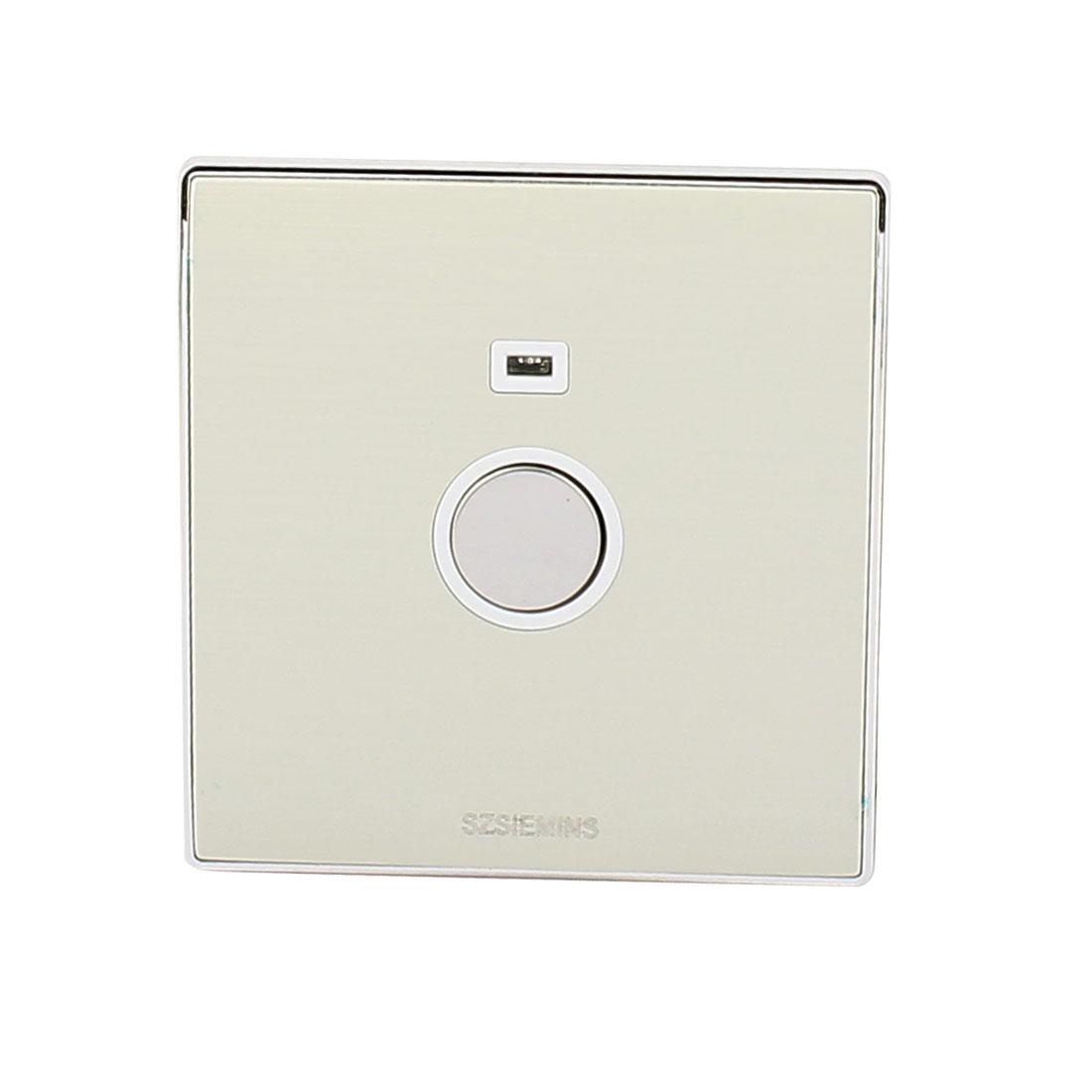 AC 160V-250V LED Indicator Light Touch Sensor Energy Saving Light Delay Switch Silver Tone