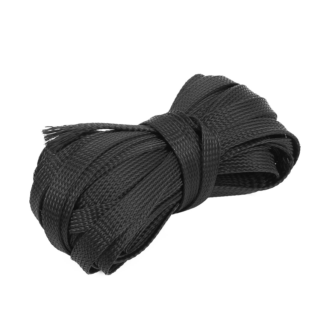 Nylon Mesh Rigging Conduit Flex Braided Expandable Sleeving Black 15M Long 10mm Wide