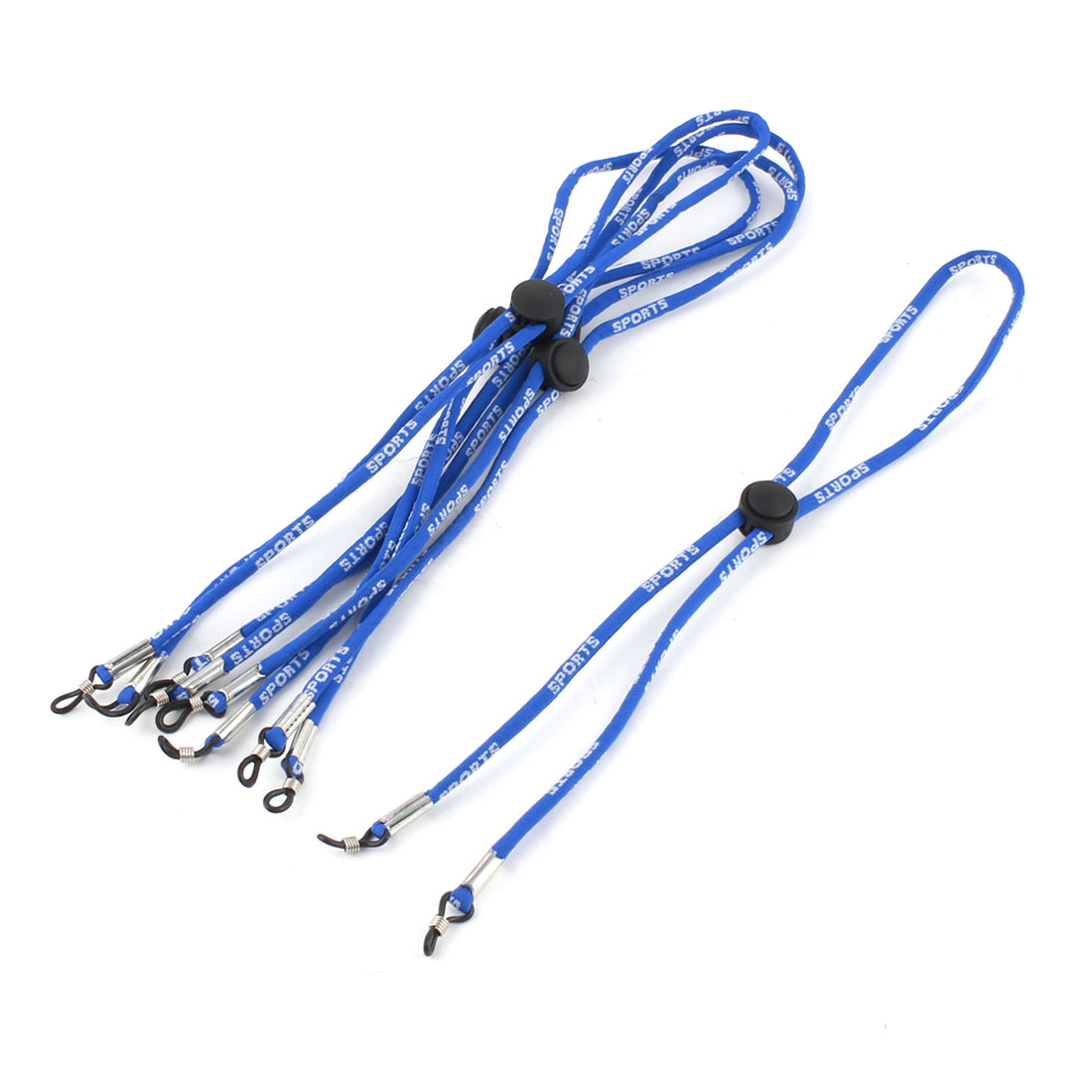 5Pcs Nylon Rope Strap Rubber Loop Tip Glasses Retainer Holder Blue