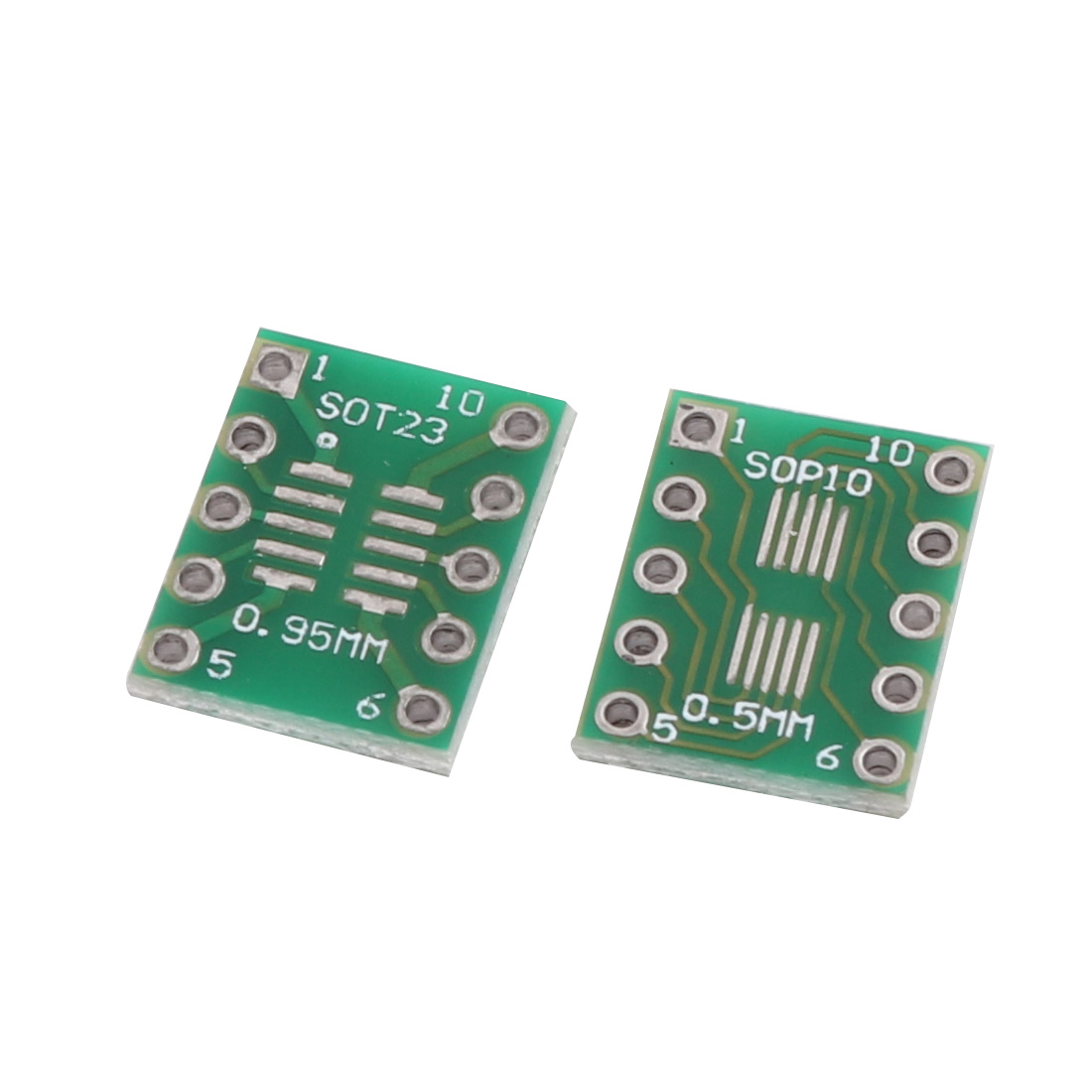 4Pcs Prototyping Double Side PCB Board Stripboard Green 8x12mm SOT223
