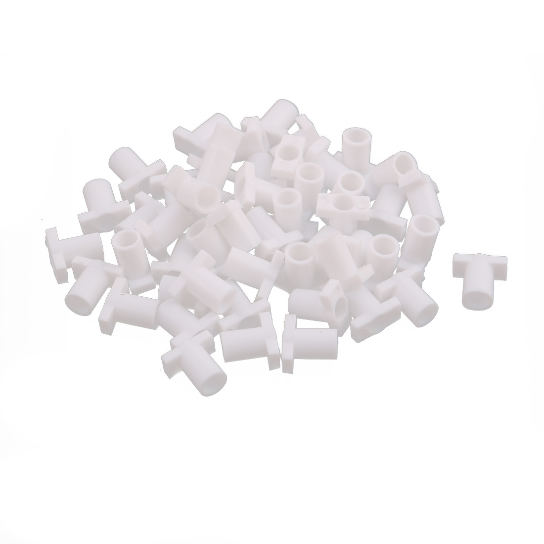 7mmx7mmx4mm Home DIY USB Type A Male Head Protection Sleeve Tail Connector White 50pcs