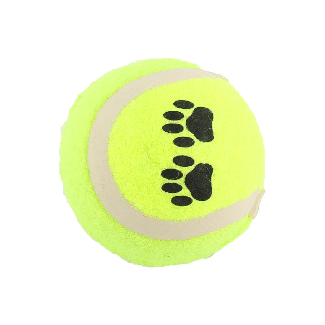 Tennis Shaped Paw Pattern Pet Dog Cat Squeaky Squeaker Sound Training Ball Chew Toy
