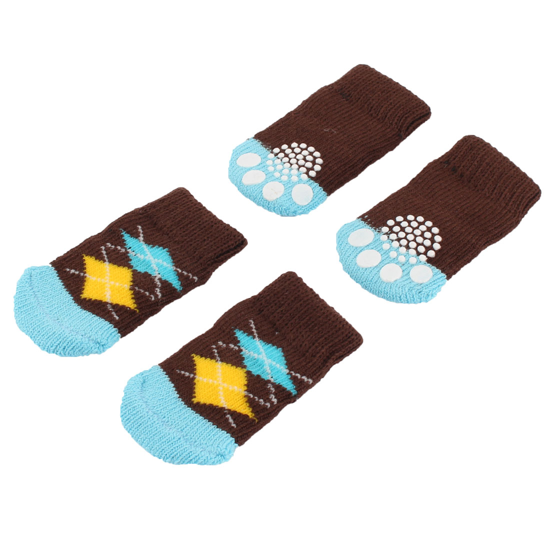 Paw Printed Anti-slip Elastic Skid Bottom Pet Dog Socks Protecters 2 Pairs