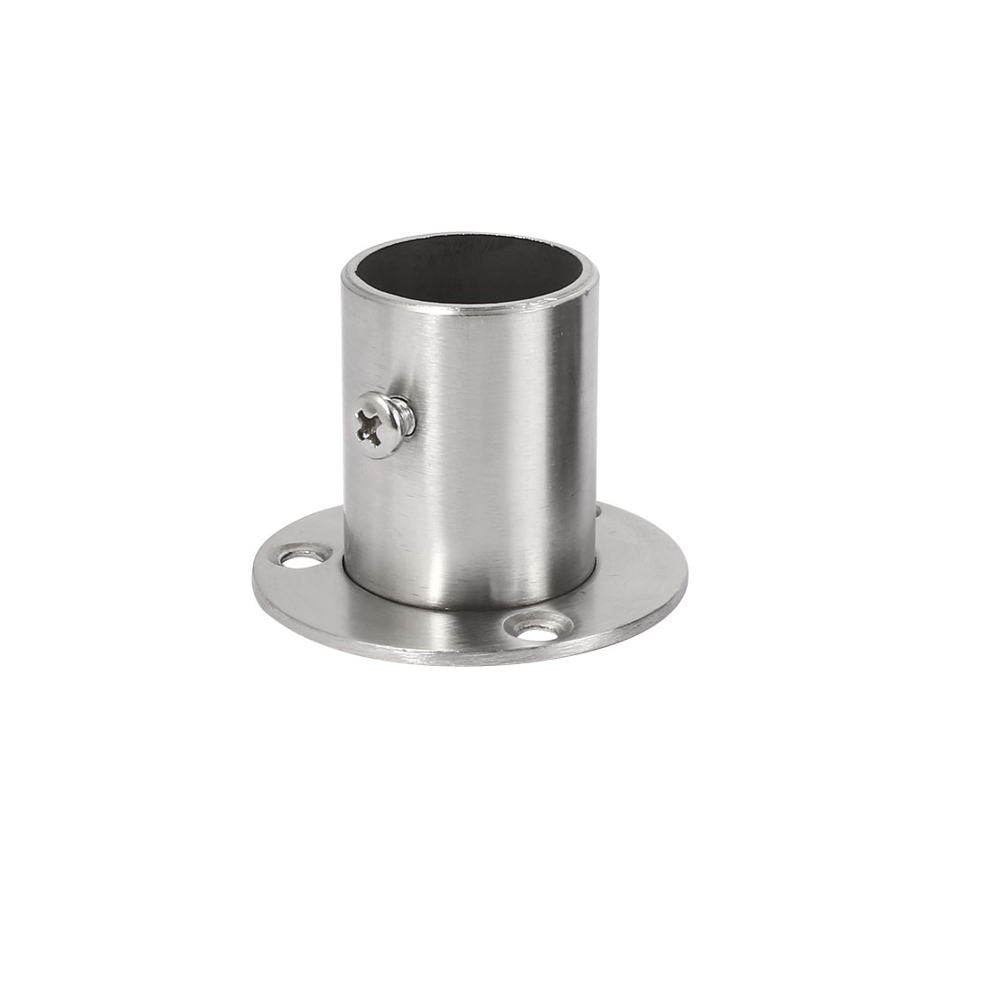 Wardrobe Stainless Steel Hanging Rail Socket End Support for 25mm Dia Tube