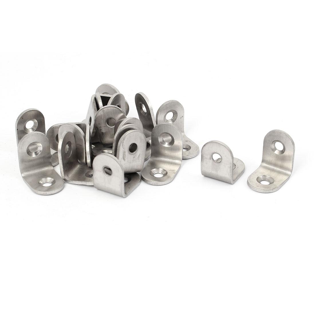 20mmx20mmx2mm 2 Holes Corner Brace Joint Angle Bracket Support 20pcs