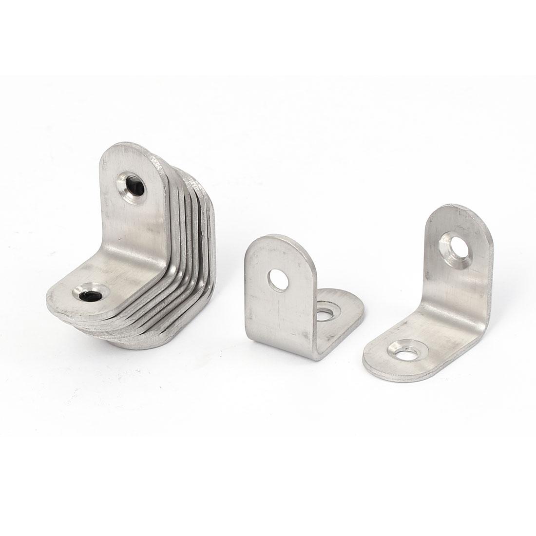25mmx25mmx2mm 2 Holes Corner Brace Joint Angle Bracket Support 10pcs