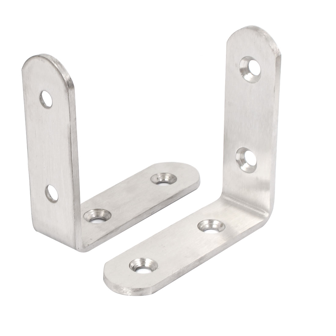 65mmx65mmx3mm L Shape Shelf Bracket Support Angle Brace 2pcs
