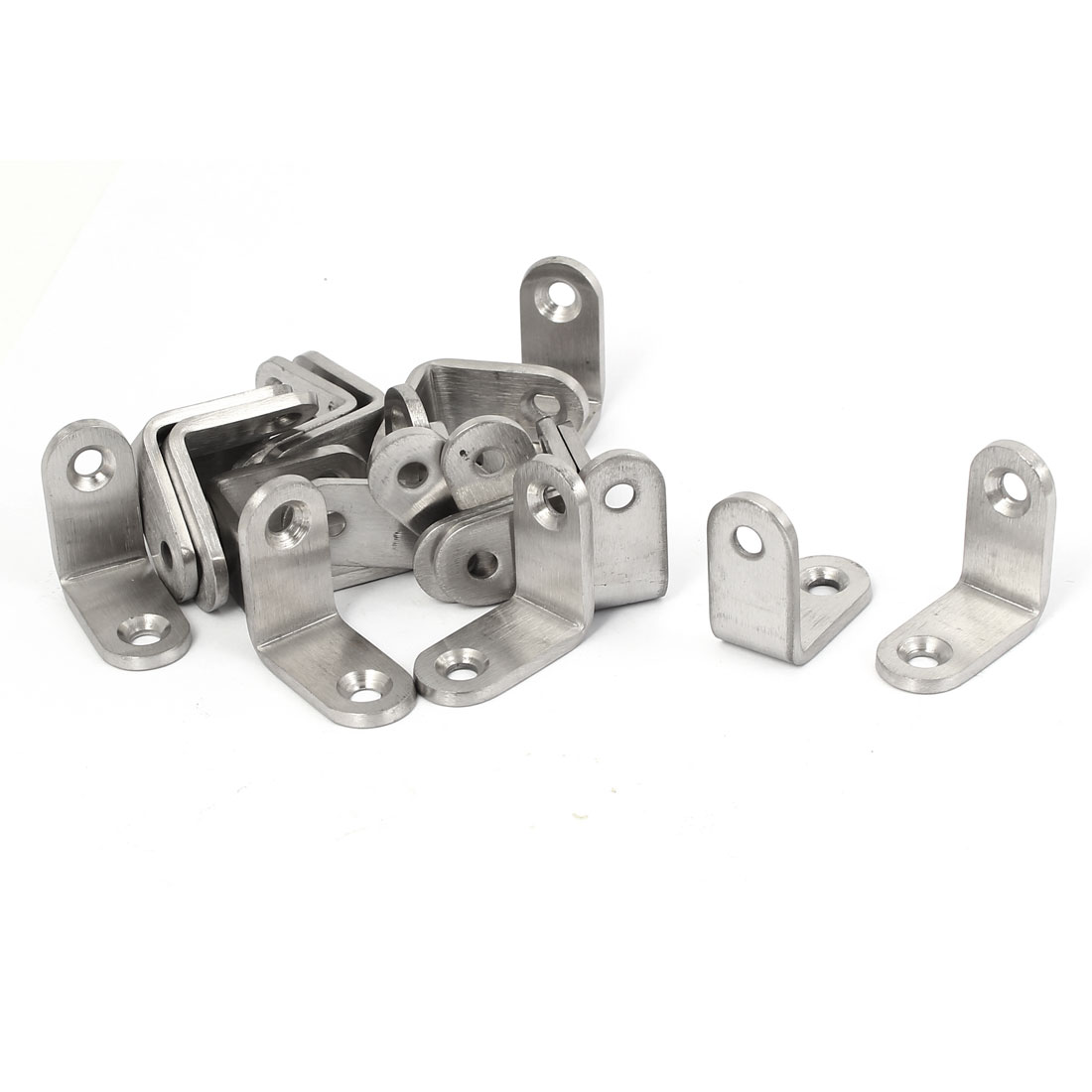 30mmx30mmx3mm L Shape Shelf Bracket Support Angle Brace 20pcs