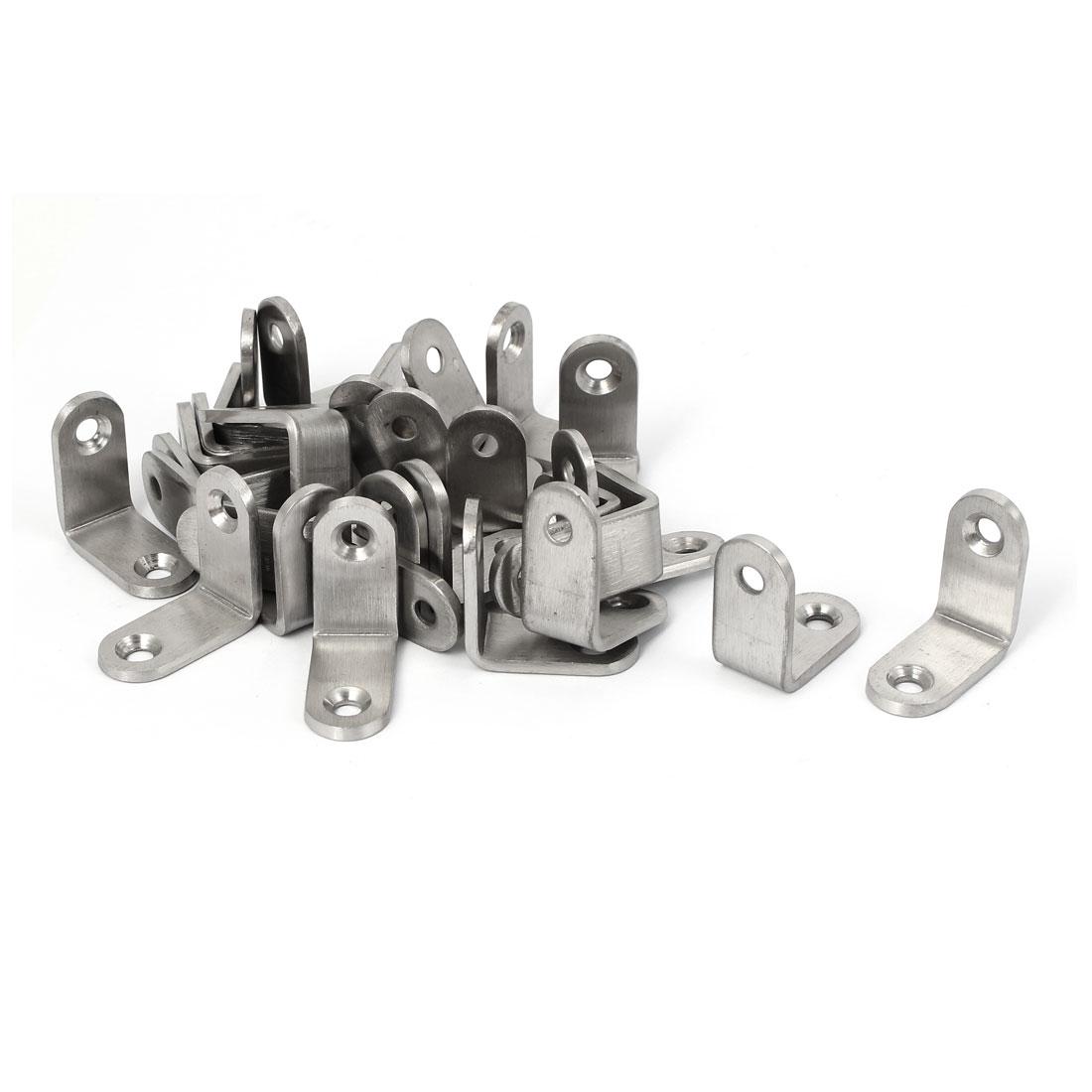 30mmx30mmx3mm L Shape Shelf Bracket Support Angle Brace 30pcs
