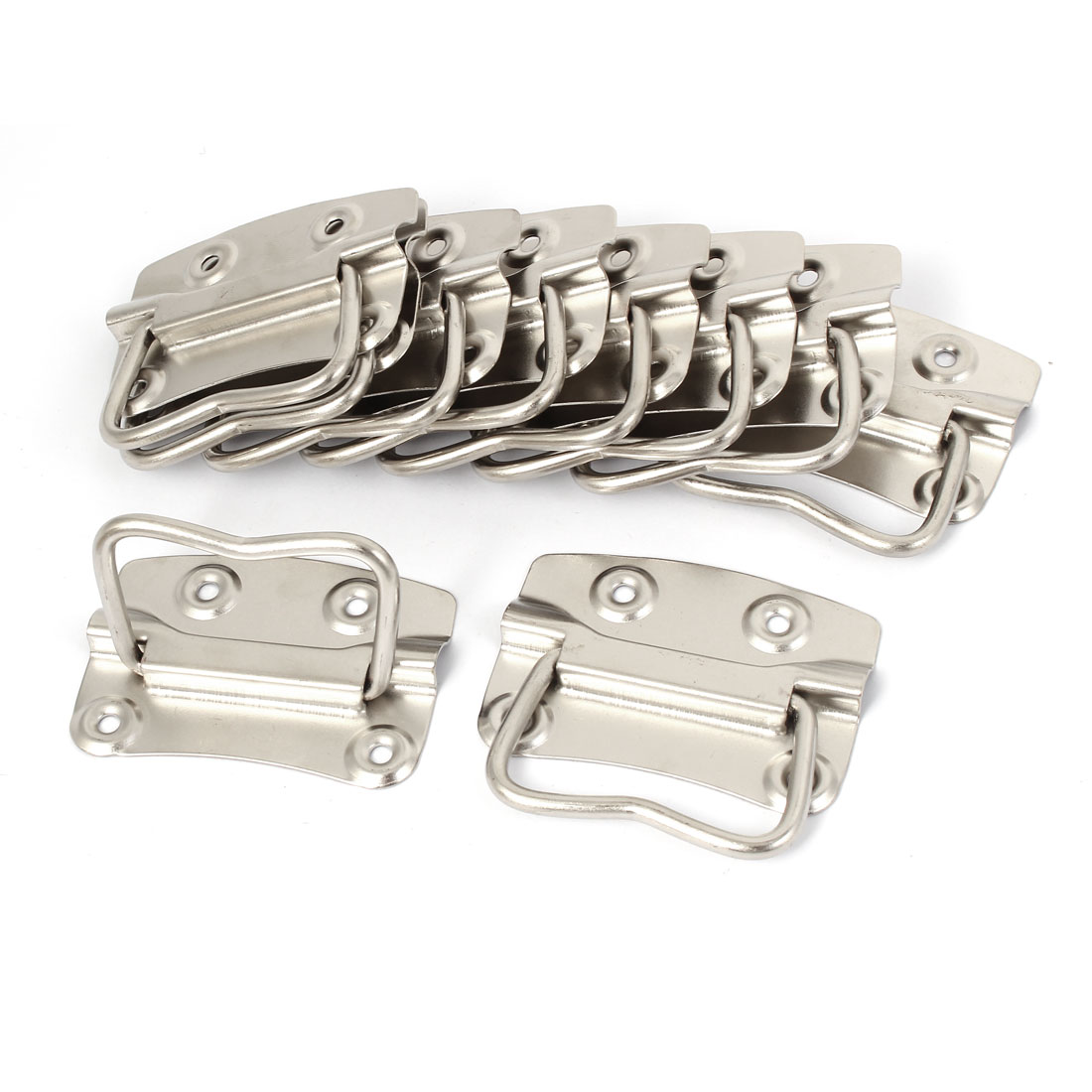 Household Storage Box Tool Chest Metal Puller Handle 80mm Length 10pcs