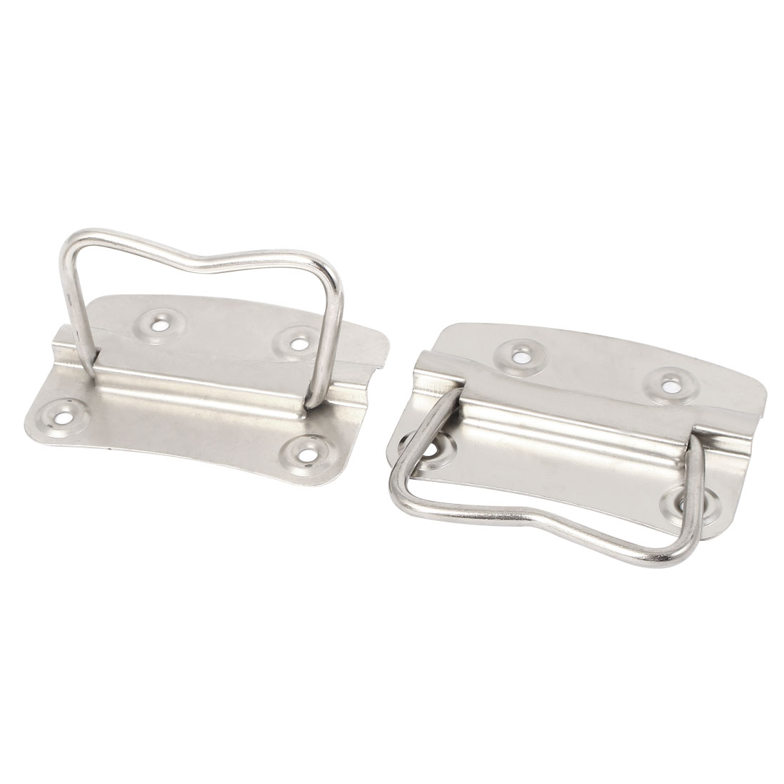 "Metal Flush Mounted Type Box Pulls Tool Chest Trunk Handles 3.5"" Length 2pcs"