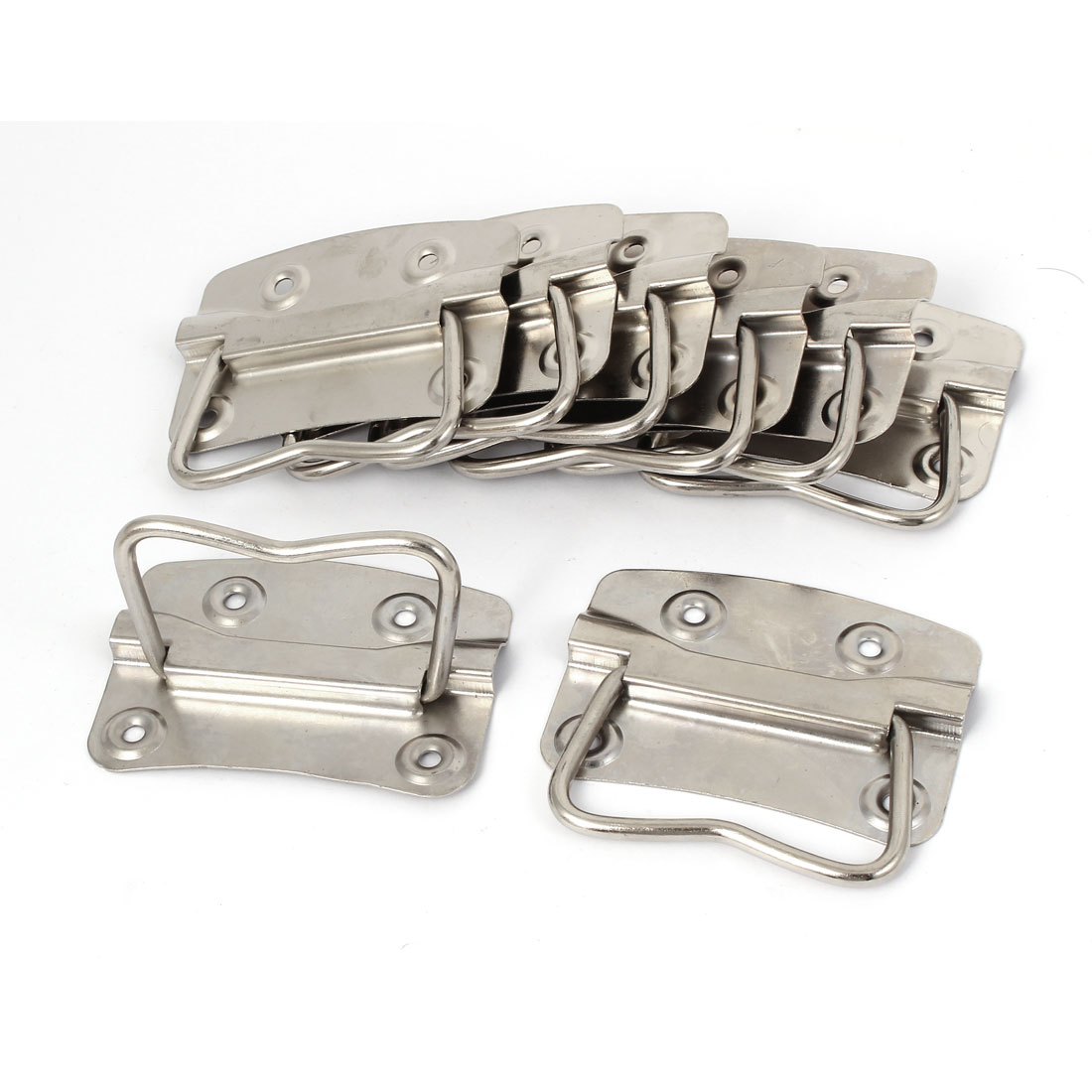 "Metal Flush Mounted Type Box Pulls Tool Chest Trunk Handles 3.5"" Length 8pcs"