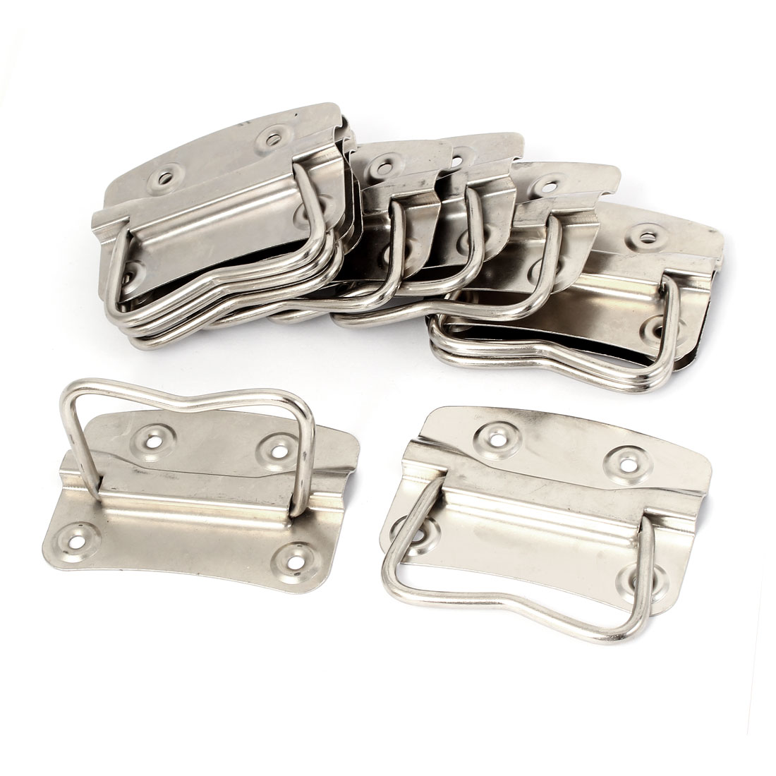 "Metal Flush Mounted Type Box Pulls Tool Chest Trunk Handles 3.5"" Length 10pcs"