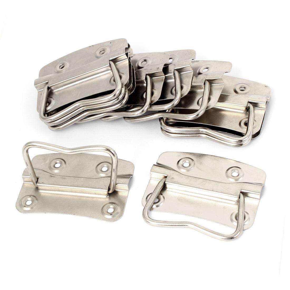"Metal Flush Mounted Type Box Pulls Tool Chest Trunk Handles 3.5"" Length 10pcs"