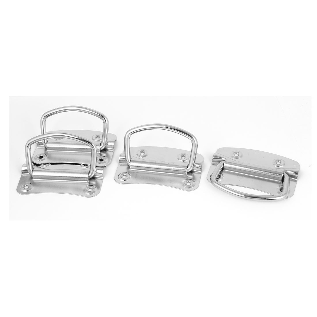 """Metal Toolbox Crates Boxes Puller Chest Handle Silver Tone 4"""" Length 4pcs"""