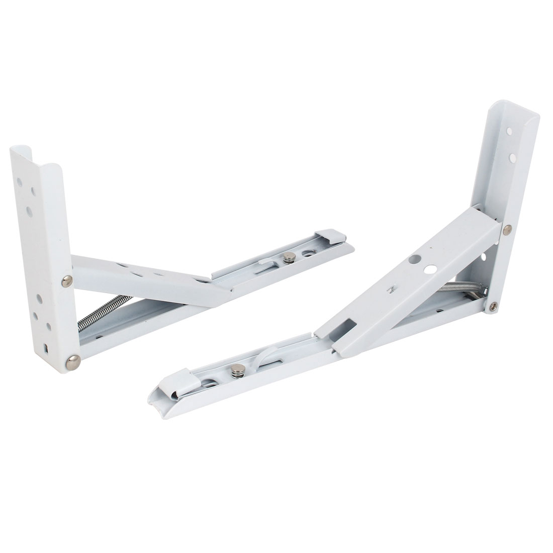 "2pcs 90 Degree Spring Loaded Folding Support Shelf Bracket 10"" Long"