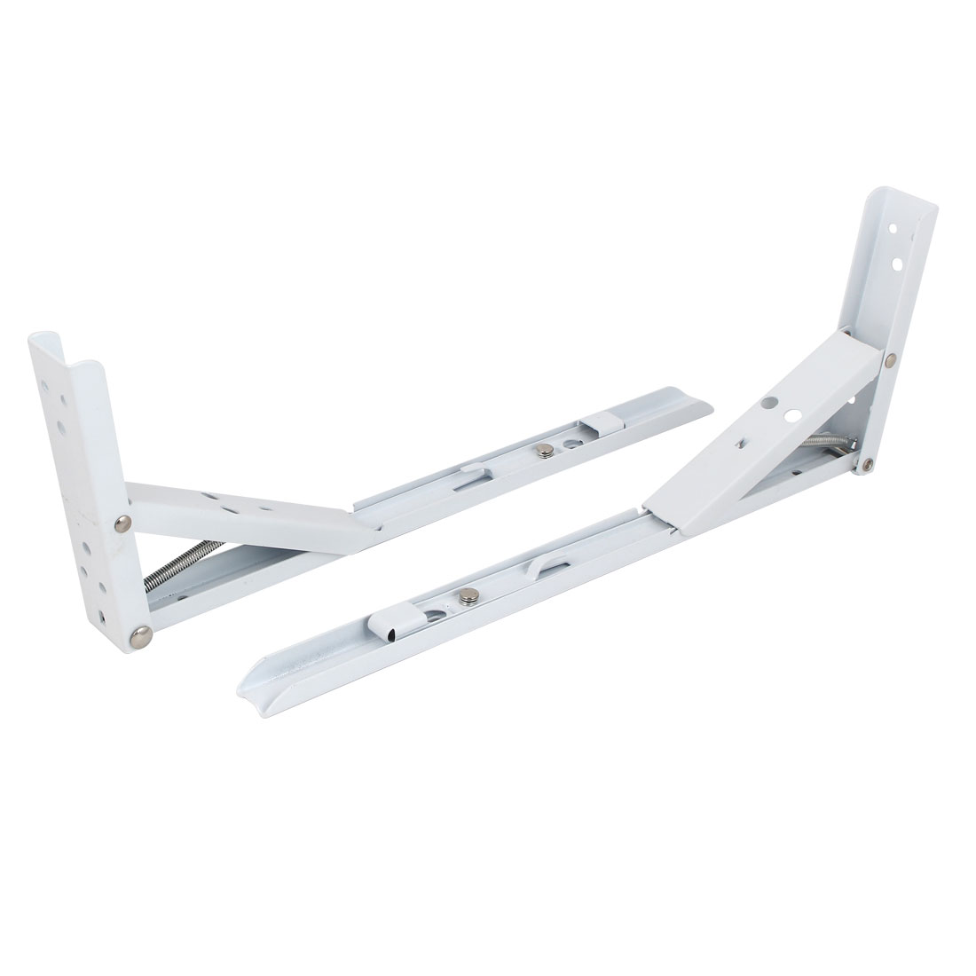"2pcs 90 Degree Spring Loaded Folding Support Shelf Bracket 14"" Long"