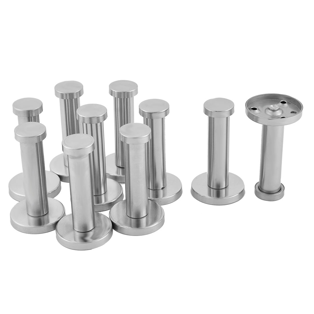 10pcs Stainless Steel Round Wall Mount Clothes Hat Robe Towel Coat Hanger Hook