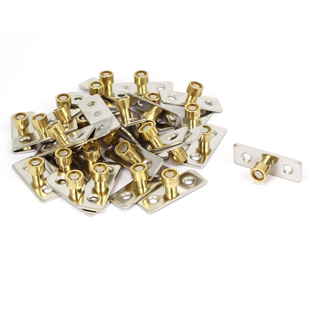 12mm Dia Wooden Sliding Door Bearing Pulley Retainer Guide Locator 30pcs