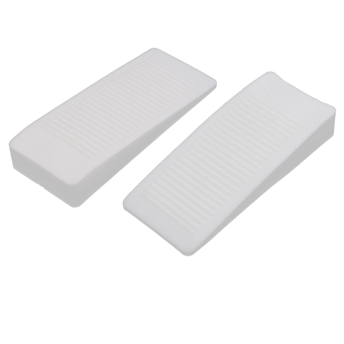 Home Office Safety Rubber Door Stop Stopper Doorstop Wedge Block White 2pcs