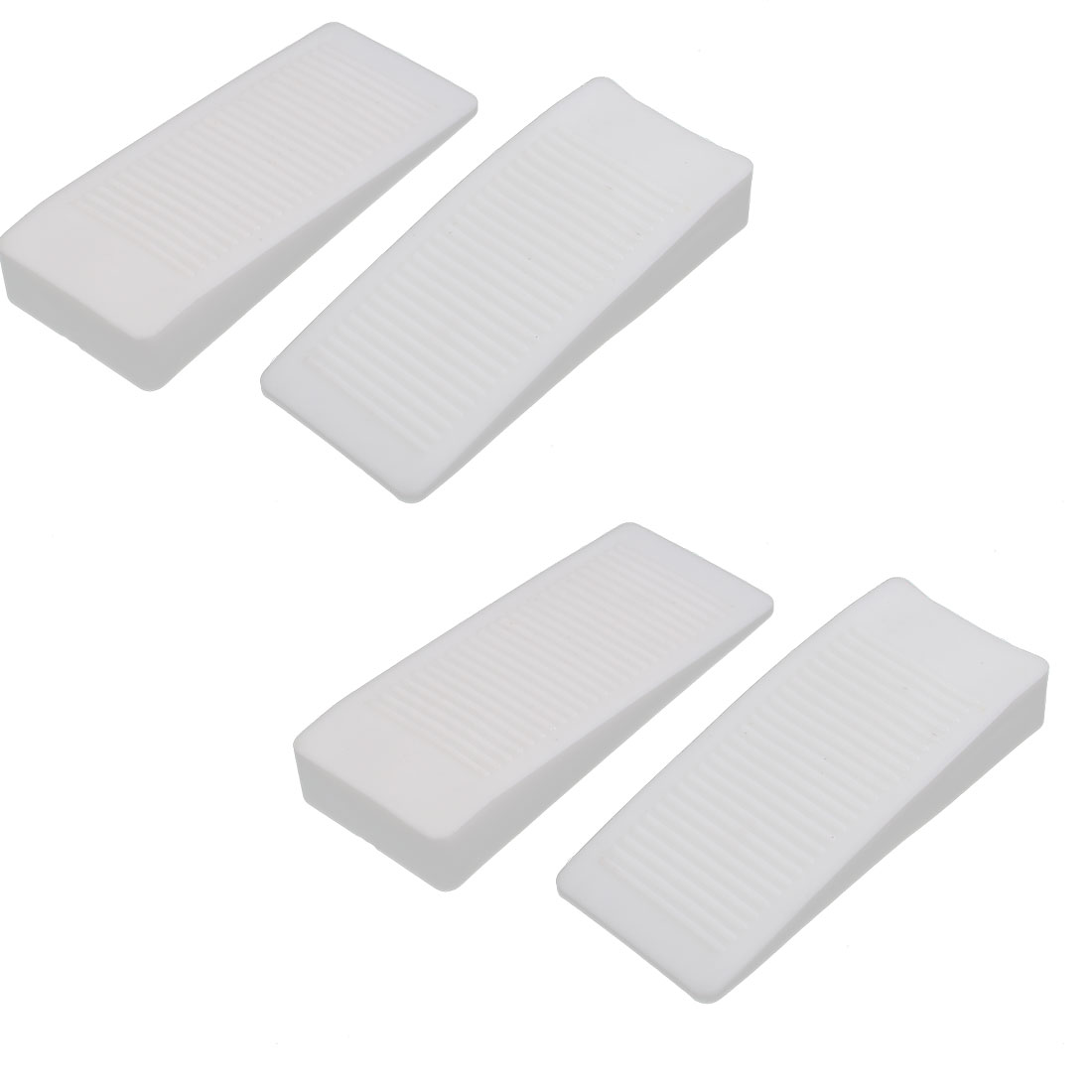 Home Office Safety Rubber Door Stop Stopper Doorstop Wedge Block White 4pcs