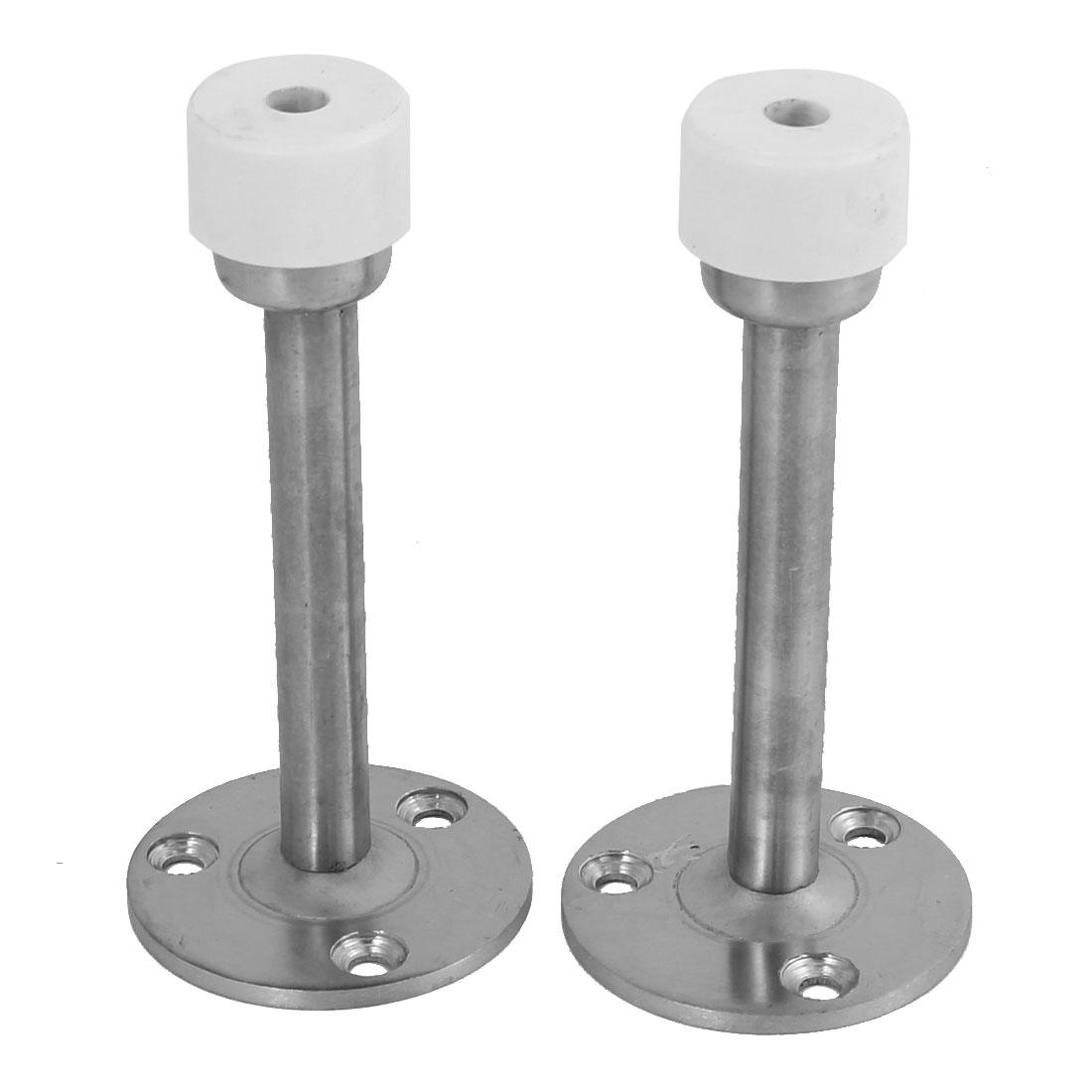 4-inch Long Metal Floor Mounted Door Stop Stopper Bumper 2pcs