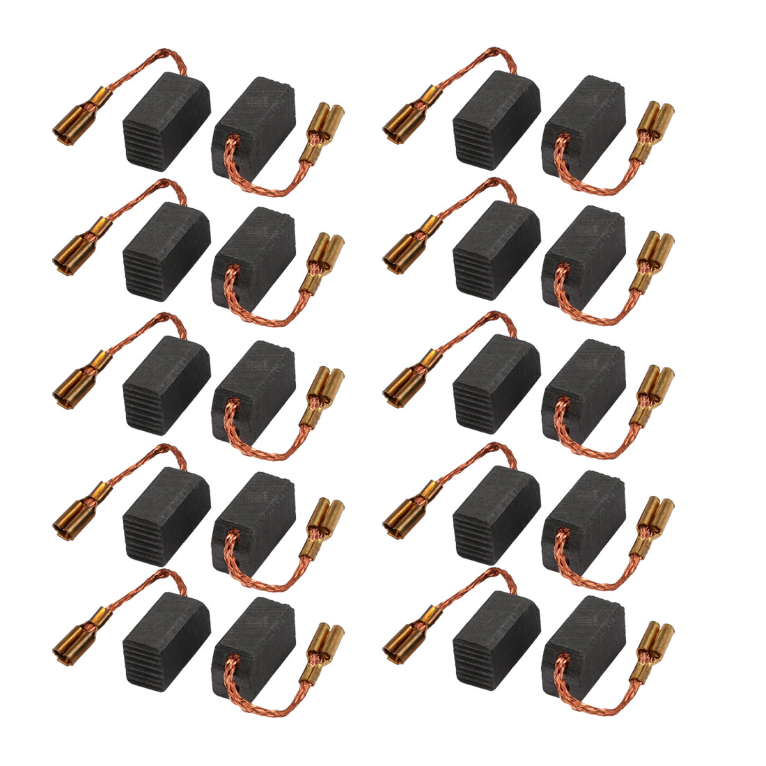 10Pcs 13mmx8mmx6mm Carbon Brushes Power Tool for Electric Hammer Drill Motor