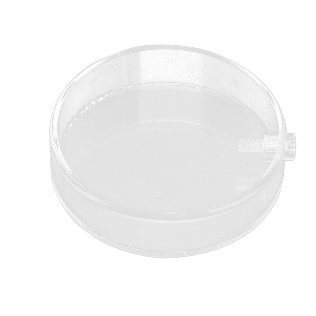 Aquarium Fish Tank Plastic Round Shaped Shrimp Feeding Dish Bowl Clear