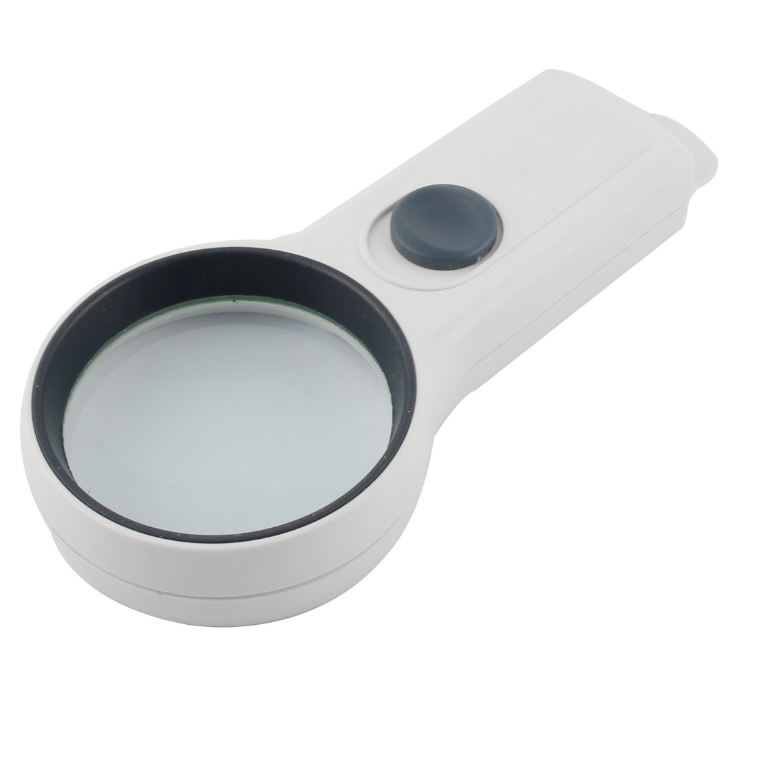 Plastic Frame Round Shape Handheld LED Light Illuminated Magnifier 75mm Dia