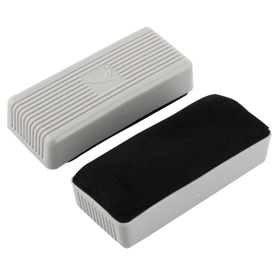Office School Plastic Shell Rectangle Shape Teaching Tool Blackboard Eraser 2 Pcs