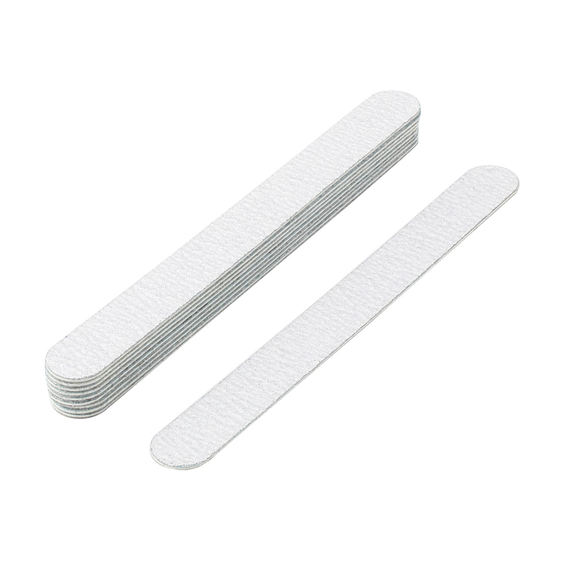 Lady Abrasive Board Disposable Beauty Care Nail File White 17.7cm Long 10 Pcs