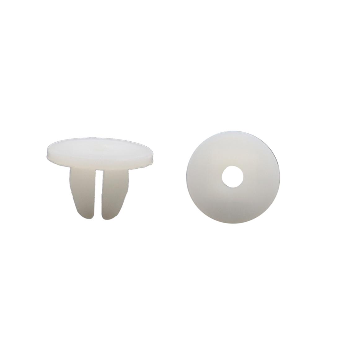 Auto Car Door Fender 8mm Hole Push Plastic Rivets Retainer Clips White 100 Pcs